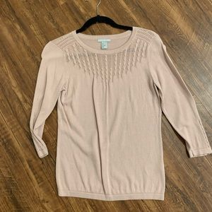 Pale pink sweater with 3/4 sleeves H&M size S